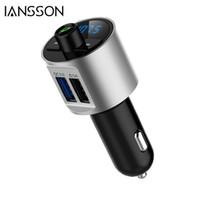 bluetooth schalten auto großhandel-BT56 Freisprecheinrichtung Bluetooth Car Kit FM Transmitter Drahtlose A2DP Auto MP3 Player TF Karte / U Festplatte Ordner Schalter QC3.0 Schnellladung