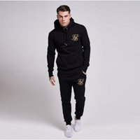 Wholesale clothes lift online - Men S Tracksuits Fashion Weight Lifting Brand Clothing Sik Silk Embroidery Hoodie Men S Casual Bodybuilding Leisure Suit Breathable