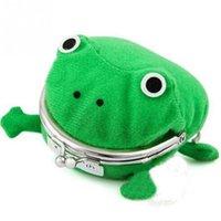 ingrosso borse di rana-Portafogli moda donna portamonete Cartone animato Modello Frog Borsa tascabile Borsa bella borsa Dacron Borsa donna Hasp
