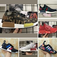 Wholesale Graffiti Hard - 2017 Boost NMD R1 Runner x Jointly and Kaws Graffiti Running Shoes Runner NMD R1 PK Knitting and Mesh Boost Casual Sneakers