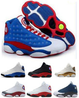 Wholesale america mid - New 13 Captain America OG Black Cat Basketball Shoes All Black 13s Trainer Sneakers Tennis Shoes For Sale Size 8-12