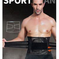 ingrosso cintura del ventre-Fitness Sports Exercise Waist Support Pressure Protector Belly Shaper Corsetto Cintura regolabile Training Cintura per uomo Y1892612