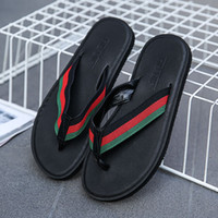 Wholesale male slippers shoes for sale - New Arrival Summer Men slippers Brand designer flip flops Beach Sandals Non slide Male Slippers Zapatos Hombre Casual Shoes