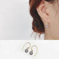 Wholesale Elaborate s925 silver eye of the devil earrings female favorite fashion accessories for women girl nice gift free ship