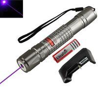 ponteiro laser roxo venda por atacado-Alta Potência Azul Roxo Feixe de Ponteiro Laser Caneta de Demonstração Remoto Caneta Ponteiro Projetor Orientável Viagem Ao Ar Livre Lanterna
