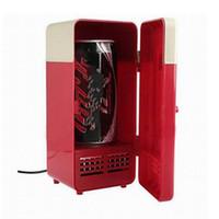 ingrosso congelatori usati-Frigo mini USB frigo caldo e freddo a duplice uso per auto doppio uso cosmetico congelatore orizzontale per freezer