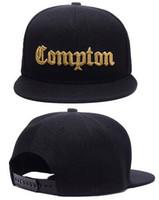 Wholesale snapback hats compton - Discount Cheap 2018 Fashion SSUR Snapback Compton Black White Hats mens women fashion adjustable snapbacks caps,High quality street hat cap