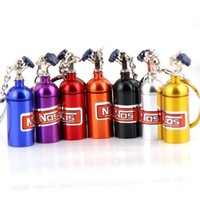 Wholesale cars bottle for sale - New Creativity NOS Turbo Nitrogen Bottle Metal Key Chain Key Ring Holder Car Keychain Pendant Jewelry for Women Men Unique Mini Keyring