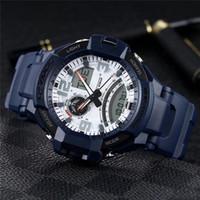 водонепроницаемый водостойкий оптовых-спортивный бренд роскошный GA1000 самолет мужские часы 50 мм серебристые дисплей водонепроницаемые спортивные наручные часы военные водонепроницаемый atmos часы