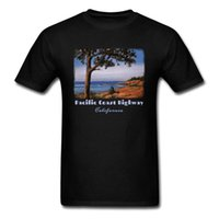 Wholesale wholesale california online - Holiday Style T shirt For Man Tshirt Black T Shirts Pacific Highway Tops California Printed Tees Adult Plus Size Clothes