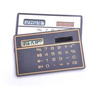 Wholesale general calculator resale online - Portable Scientific Calculator Bank Card Style Handheld Calculator Mini Wallet Storage Calculators for Stationery c665