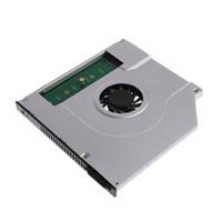 ssd katı hal toptan satış-Yeni Dizüstü Dahili Soğutma Fanı İç CPU Soğutucu Radyatörü 2. M2 M.2 NGFF SSD Caddy Katı Hal Sabit Disk Muhafaza Adaptörü 9.