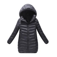 winter parkas for kids Canada - Children Winter Hoodies Coat For Girls New Design 2018 Fashion Casual Cotton Padded Outwear Parka Kid Clothes Unisex Down Jacket