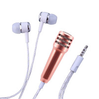 Wholesale One Piece Mobile - New mobile phone microphone with headphones one-piece perfume capacitance sing karaoke treasure mini microphone