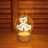 Wholesale new touch lamps - 3D Small Desk Lamp Gift Lamp USB Touch Remote Control Originality Cozy Bedside Lamp New Pattern Ferris Wheel Small Night-light-5