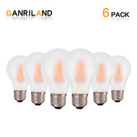 Wholesale Frosted Glass Pendant Light - Frosted Glass Edison A19 Globe Lamp LED Filament Light Bulb 8W 2700K Decorative Pendant Lighting Dimmable
