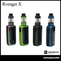 Wholesale X Mini Green - Authentic Vaporesso Revenger X Starter Kit with 220w TC Box Mod and 5ml NRG Tank   2ml NRG Mini Atomizer 100% Original