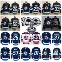Wholesale Cupping Marks - 2018 Stanley Cup Final Patch Winnipeg Jets 25 Paul Stastny 55 Mark Scheifele Jersey 29 Patrik Laine 26 Blake Wheeler 33 Dustin Byfuglien Men