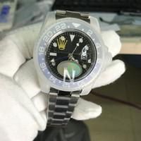 Wholesale new batman for sale - Top Factory V3 Roles Version Asia ETA Movement Men Watch Batman GMT Mens Watches Luminous Dive Waterproof M Wristwatch