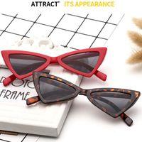 Wholesale cheap red candy - Cat Eye Sunglasses Triangle Frame Women Sun Eyeglasses UV400 Plastic Rim Candy Frame Cheap Wholesale Eyeglasses Shop