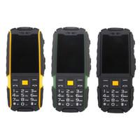 двойные sim-телефоны ударопрочные водонепроницаемые оптовых-Оригинал Suppu X6000 Long Standby Dual Card Power Bank Fm-Радио Противоударный Ip67 100% Реальный Водонепроницаемый Прочный Открытый Мобильный Телефон