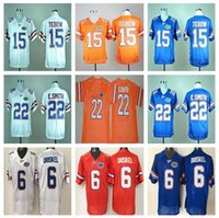 20a8a557b Men s 2018 College Florida Gators Jersey NCAA 15 Tim Tebow Jersey 22  E.Smith Team Color Blue White Orange Stitched Football Jerseys