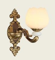 lámparas de pared espejo al por mayor-Luces de pared de cristal modernas para sala de estar Lámpara de pared de cristal led moderna Dormitorio Aplique de pared Iluminación de espejo Luz para baño