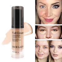 Wholesale whitening base makeup resale online - Full Cover Colors Liquid Concealer Makeup ml Eye Dark Circles Cream Face Corrector Waterproof Make Up Base Cosmetic