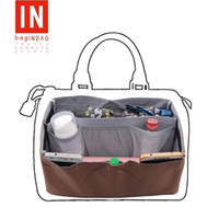 Wholesale Organizer For Women - bag in bag Handbag Wallet Purse Insert Organizer Tote Package for Women Fit Speedy 25&30&35; Coffee Color