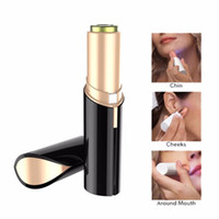 Wholesale epilator hair removal remover - 2018 Hot Lipstick Facial Hair Remover Face Hair Removal Epilator Painless 18K Gold Plated Remover 4 colors to choose Free Shipping