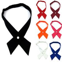 kore erkek bağları toptan satış-Tiki Chic Çapraz Erkekler Kadınlar Kravatlar Ayarlanabilir Moda Kore Tarzı Kravatlar Koleji Öğrenci Iş Kravatlar Suits 37 87 mz Z