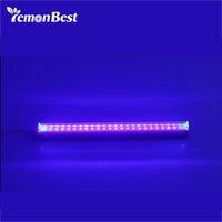 luz ultravioleta uv al por mayor-6W 24 LED UV Light Fixtures Portable Blacklight Lamp para UV Poster Art Dimmable Blacklight Ultraviolet Lamp para DJ Party