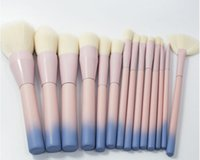 maquiagem vdl venda por atacado-14 pçs / set VDL Pincéis de Maquiagem Meu Destiny Pro Profissional Mistura Colorida Em Pó Foundation Contour Makeup Brush Set 32 conjunto Frete grátis