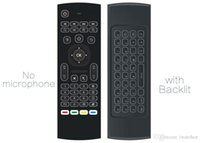 Wholesale 10pcs MX3 T3 backlit Without Microphone Mini GHz Wireless Gyroscope Keyboard Air Mouse Remote G Sensor For Android TV BOX PC dongle