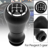 deri kolu toptan satış-5 Hız ABS Plastik + Deri Krom CITROEN C1 C3 C4 Serisi için Manuel Vites Hentbol Topuzu / PEUGEOT 5 Dişli Modelleri CIA_30L
