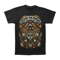 schwarze reichspitze großhandel-Crown The Empire Männer Axt T-Shirt Small Black 100% Baumwolle Kurzarm O-Neck Tops T-Shirts O-Neck Hipster T-Shirts