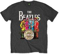 beatles großhandel-The Beatles Herren SGT Pepper Kurzarm T-Shirt, Grau (Charcoal), X-Large