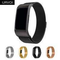 уникальные магниты оптовых-URVOI Milanese loop strap for Fitbit Charge 3 stainless steel band with magnetic buckle adjutable replacement unique magnet lock