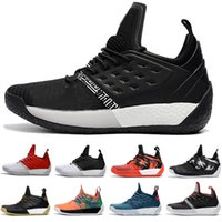 Wholesale james shoes white black - 2018 Newest james harden 2 vol Men's Basketball Shoes High Quality Trainer Sport Sneaker size 40-46