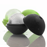 Wholesale ice tray cup - Silicone Soccer Ice Ball Mold 2018 FIFA Russia World Cup Football Ices Cube Tray Safe Colorful Bar Tools 3 24we CB
