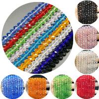 12 mm elmas taklidi top boncuklar toptan satış-Yeni 4/6/8mm Sıcak Moda Dağınık boncuk DIY Kristal Cam Boncuk Bilezik Takı Yapımı için Çeşitli Renkli Boncuk