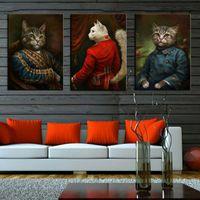 niños marcos de fotos de animales al por mayor-Minimalista Nórdico Negro Blanco Kawaii Animales Impresiones del Arte del Gato Vivero Cuadro de la Lona Pintura de la Lona Niños Habitación Decoración Sin marco