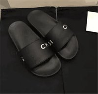 Wholesale Womens Sandals White - 2018 New Fashion Mens and Womens Causal Flat Beach Slide Sandals with Words Letters Embossed Leather Size Euro 36-44