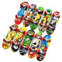 Wholesale plastic mini skateboard for sale - Mini Finger Skateboard CM alloy Creative Graffiti Finger Scooter Hand Wrist Finger Exercise Toy for children C4479