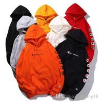mode-sweatshirt damen großhandel-Modemarke String-Label Champ-Marke Damenpolos gepolsterte Kapuze Sweatshirts Netter Boyfriend-Style-Harajuku-Hoodies mit Kaschmir-Pullover