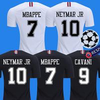 football jerseys al por mayor-2018 2019 PSG jordan third maillot MBAPPE soccer jersey CAVANI VERRATTI top thailand 18 19 paris football shirt KIMPEMBE Camiseta de futbol