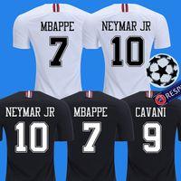 Wholesale 2018 PSG third maillot MBAPPE soccer jersey CAVANI VERRATTI top thailand paris football shirt KIMPEMBE Camiseta de futbol