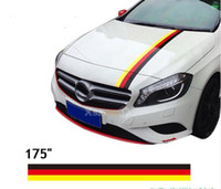 "Wholesale German Flags - (450*15cm Roll) 175"" German Flag Racing Stripes Stickers Hood Stickers Car styling For All Cars Class A B C CLA SLK GLK AMG"