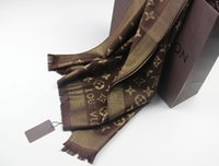Wholesale Thread Scarves - New Brand Scarf for Women 2017 Winter luxury designer scarves warm long cotton Gold thread scarf size 180*70cm Q-350