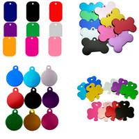 Wholesale dogs colors online - Dog Tag Metal Blank Military Pet Dog ID Card Tags Aluminum Alloy Army Dog Tags No Chain Mixed colors WX G12